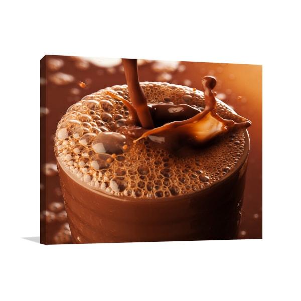 Chocolate Drink Canvas Art Prints