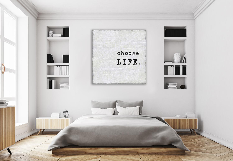 Grey Inspirational Home Wall Print