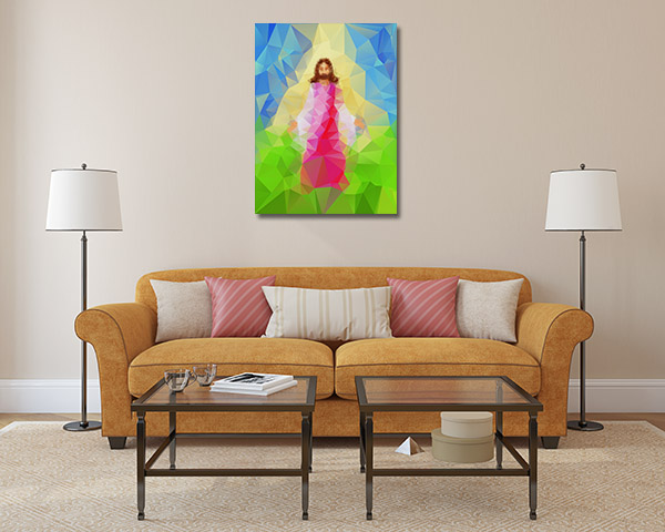 Christ Vector Prints Canvas