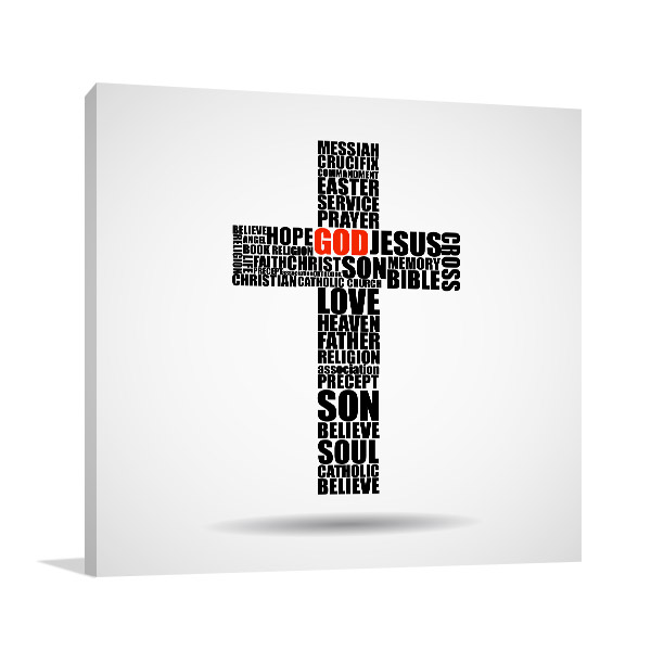 Christian Symbol Prints Canvas