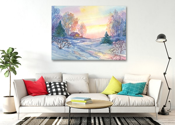 Christmas Season Canvas Art Print on the Wall