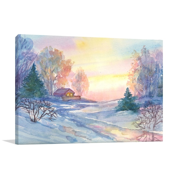 Christmas Season Print Art Canvas