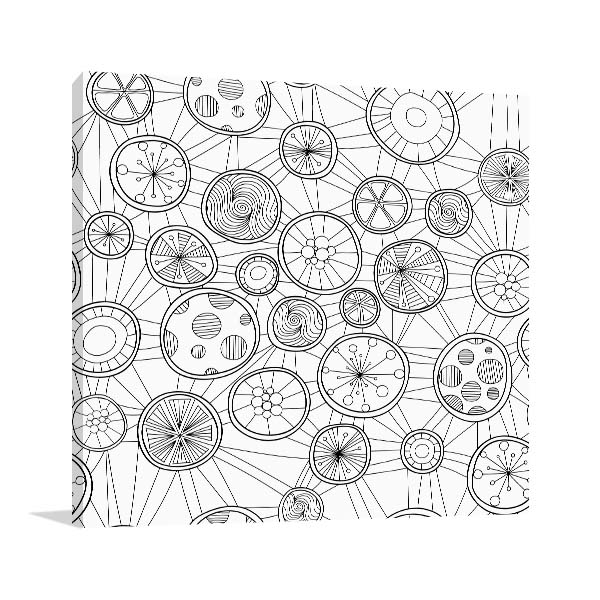 Circle Pattern Canvas Art Prints