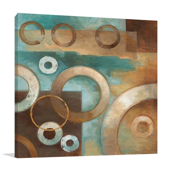 Circular Motion I Wall Canvas Print