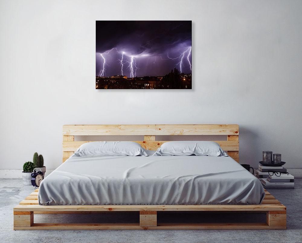 Night Photography Skyline Print