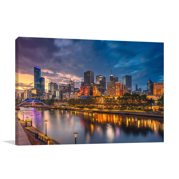 City of Melbourne Wall Canvas Print