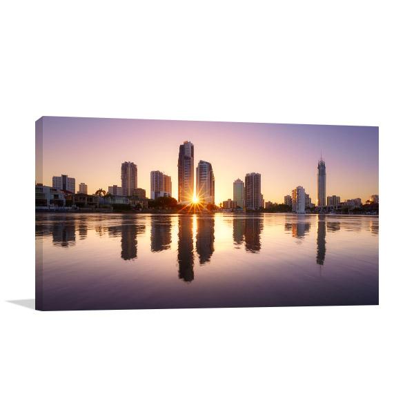 City Reflects Brisbane Canvas Art Prints