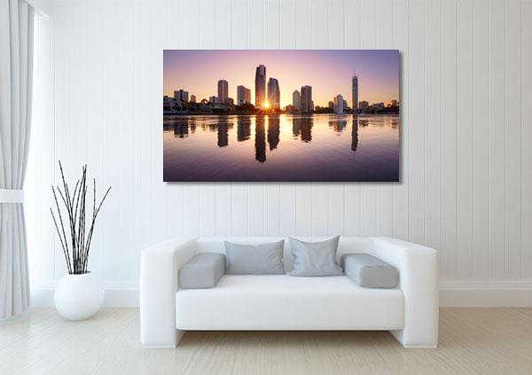 City Reflects Brisbane Canvas Prints