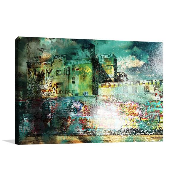 City Scrim A Canvas Print