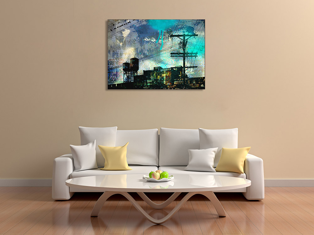 Digital Abstract Cityscape Art Print
