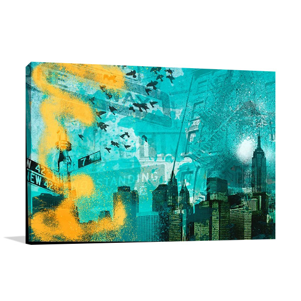 City Scrim C Canvas Wall Art Print