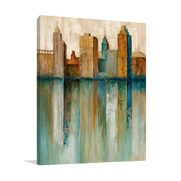 City View II Art Print on Canvas