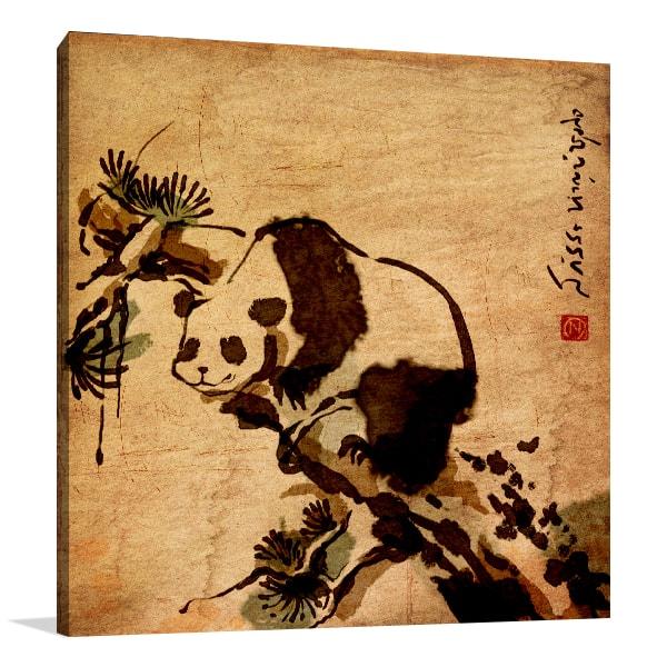 Classic Panda Canvas Prints