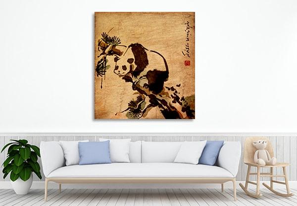 Classic Panda Wall Art Print