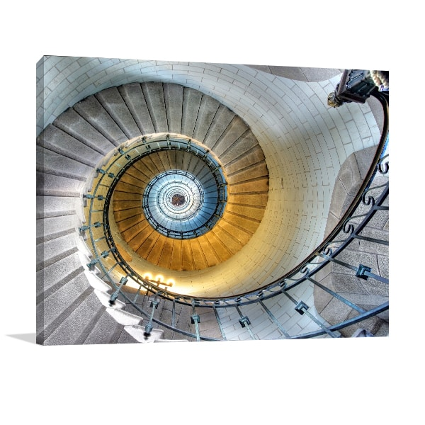 Classic Spiral Staircase Art Print Canvas Prints