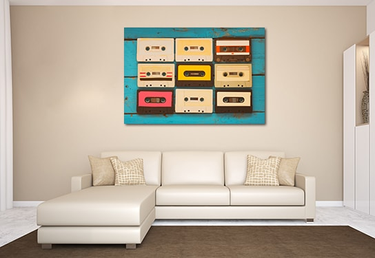 Classic Tapes Prints Canvas