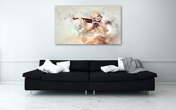 Classic Violinist Canvas Art Prints