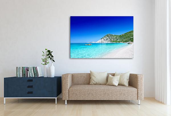 Clear Blue Beach Canvas Art