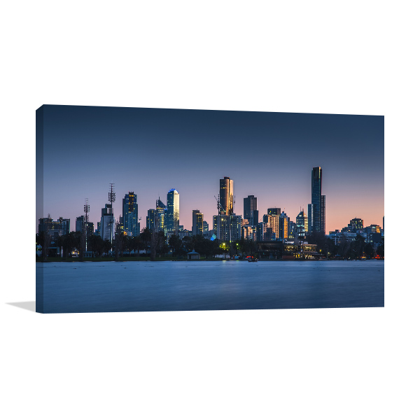 Clear Sky at Dawn in Melbourne Canvas Art