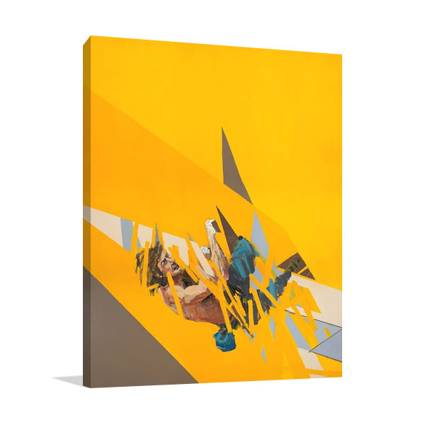 Climber Wall Canvas Print | Ngo