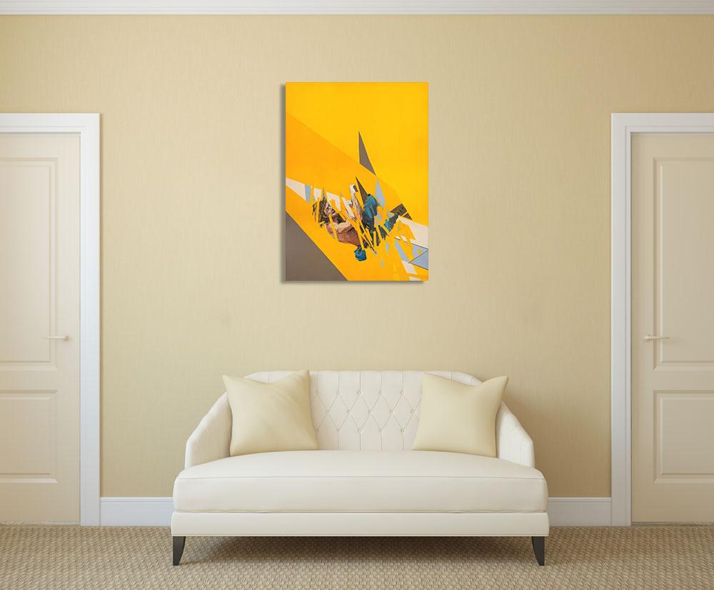 Canvas Wall Print Yellow Art