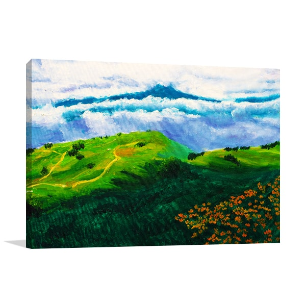 Clouds And Mountain Art Prints