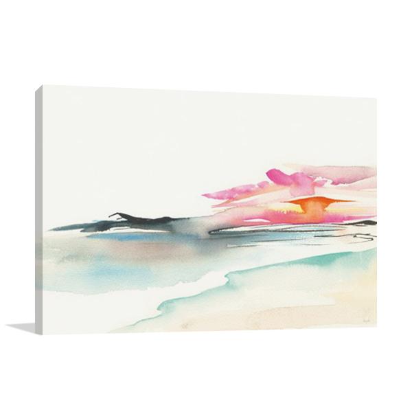 Coastal Sunset Wall Art Print