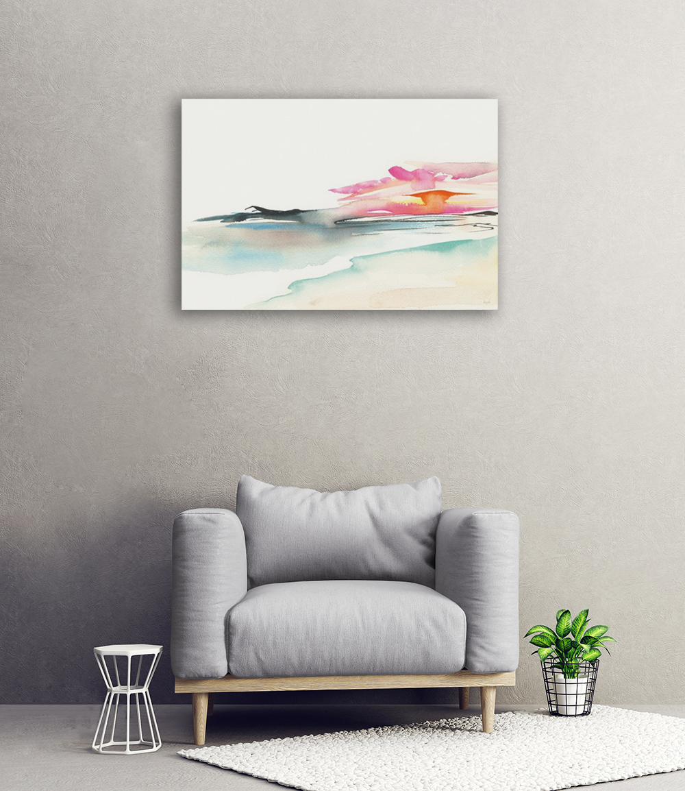 Watercolour Canvas Art Print