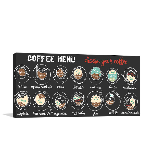 Coffee Menu Canvas Art Prints