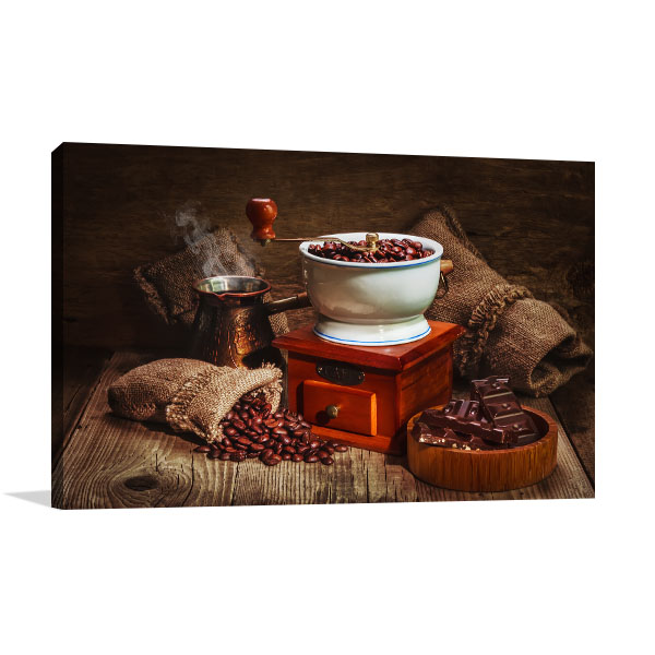 Coffee Old Style Canvas Art Prints