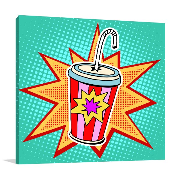 Cola Paper Cup Canvas Art Prints