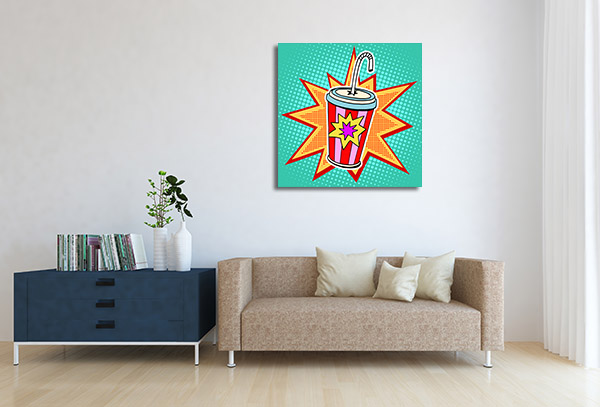 Cola Paper Cup Wall Art