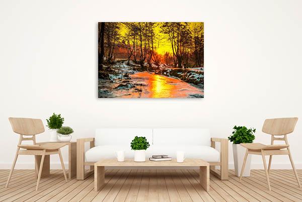 Cold Sunset Canvas Prints