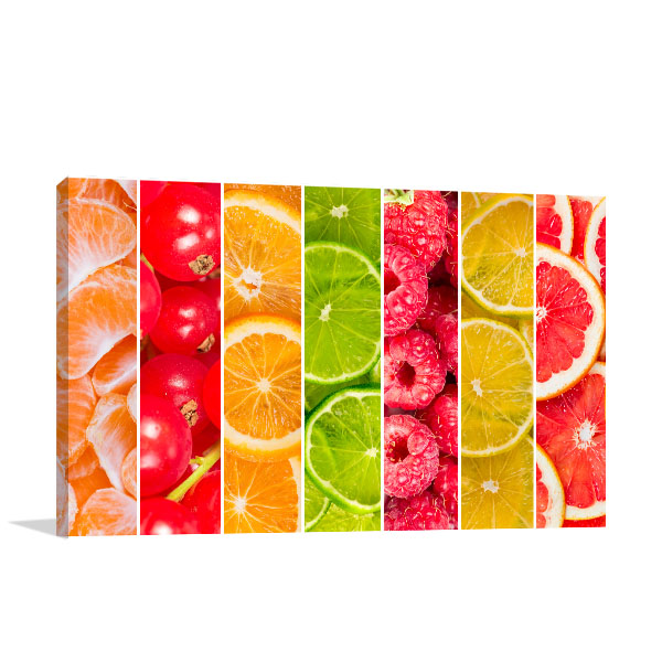 Collage Of Fruits Canvas Art