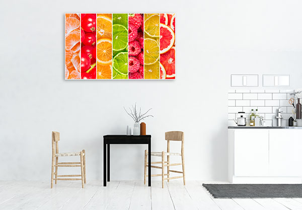 Collage Of Fruits Canvas Prints