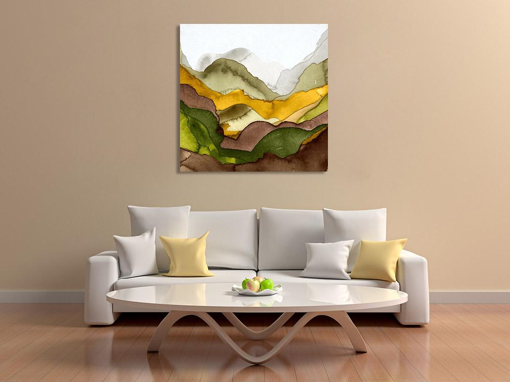 Watercolour Abstract Earth Tones Canvas Art