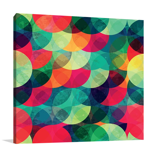 Abstract Digital Geometric Print Art