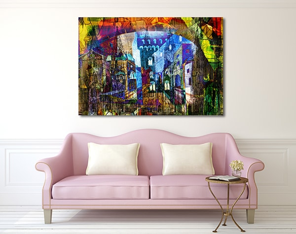 Colourful City Canvas Prints