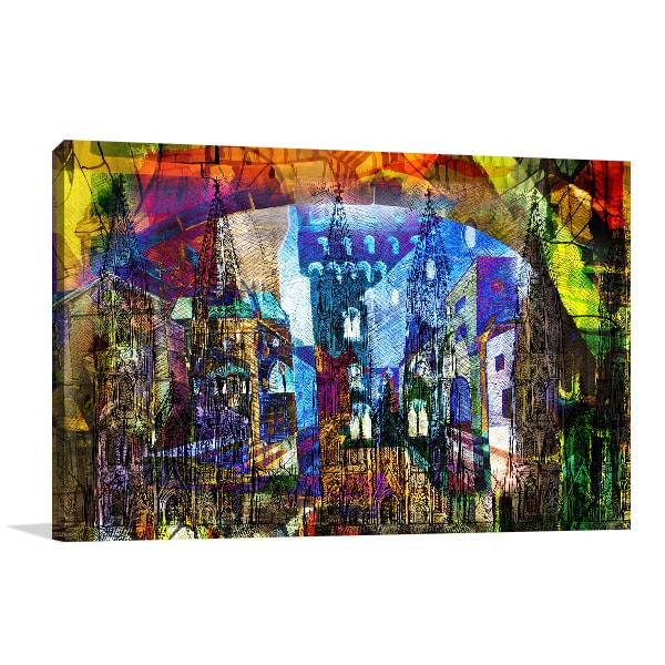 Colourful City Canvas Art