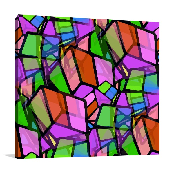 Colourful Cube Artwork
