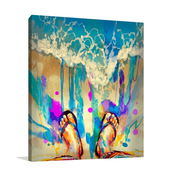 Colourful Feet Wall Art