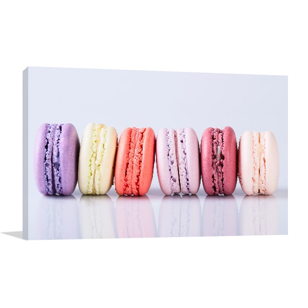 Colorful Macaroons Canvas Prints