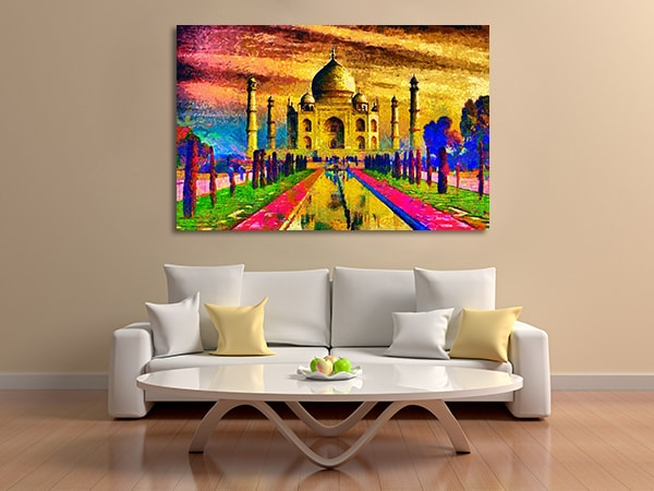 Colourful Taj Mahal Canvas Prints