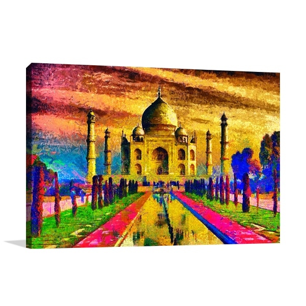 Colourful Taj Mahal Canvas Art Prints
