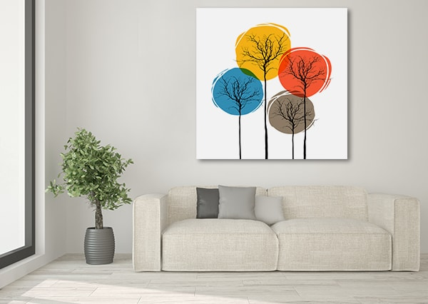 Colorful Trees Print Artwork