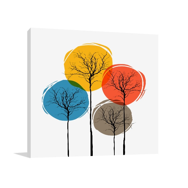 Colorful Trees Canvas Art Print