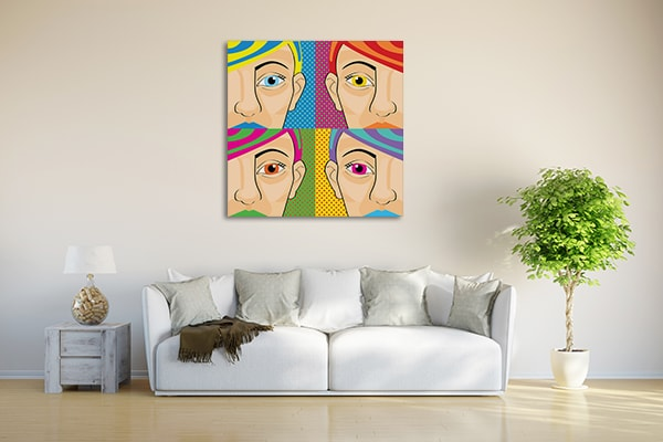 Colorful Women Canvas Art