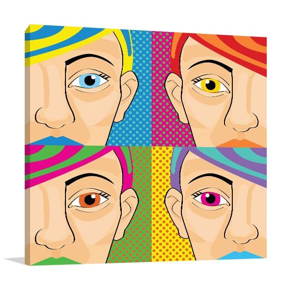Colorful Women Print Art Canvas