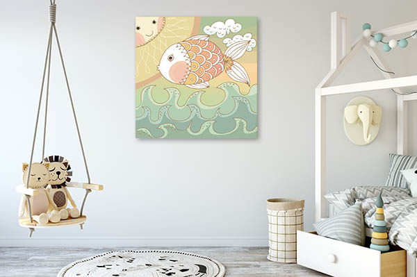 Colorfully Fish Canvas Prints