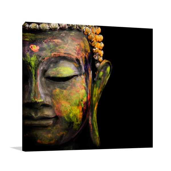 Colourful Buddha Print Artwork